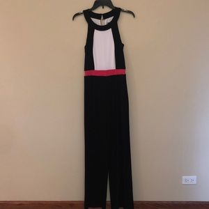 Vince Camuto black color block jumpsuit new sz xs